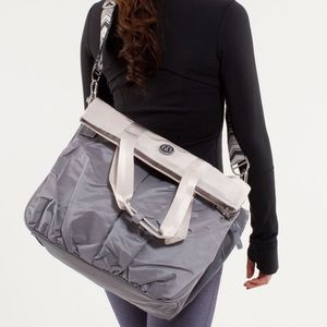 Lululemon Flow and Go Bag in Fossil/Dune color